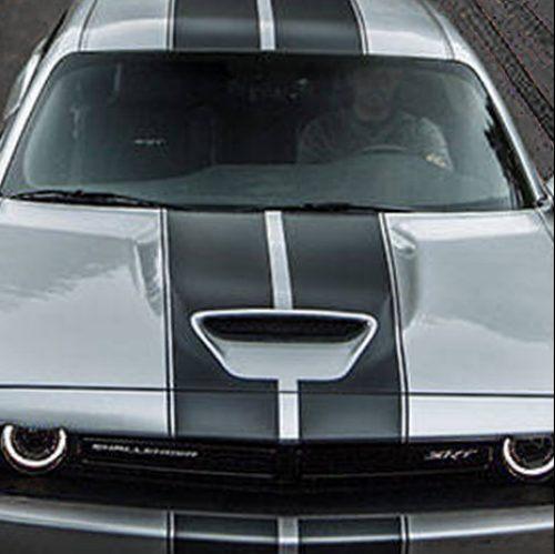 2019 dodge challenger srt hood stripes